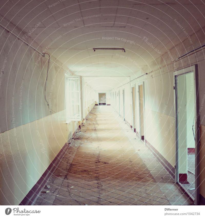 Tunnel Häusliches Leben Haus Renovieren Handwerk Baustelle Fabrik Ruine Bauwerk Gebäude Architektur Mauer Wand Fenster Tür Stein alt dreckig dunkel Ekel kalt