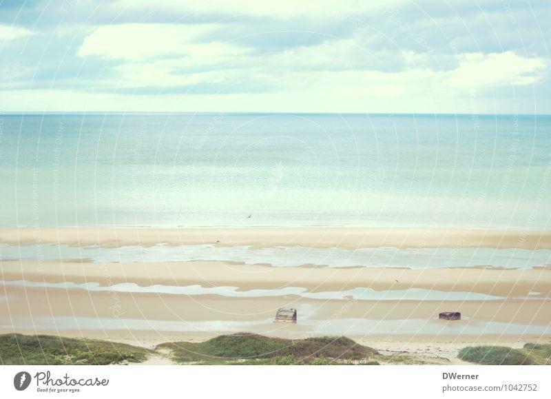 Omaha Beach Himmel Natur Ferien & Urlaub & Reisen blau Sommer Erholung Meer Landschaft Strand Küste Wege & Pfade Wellen Ausflug fantastisch beobachten