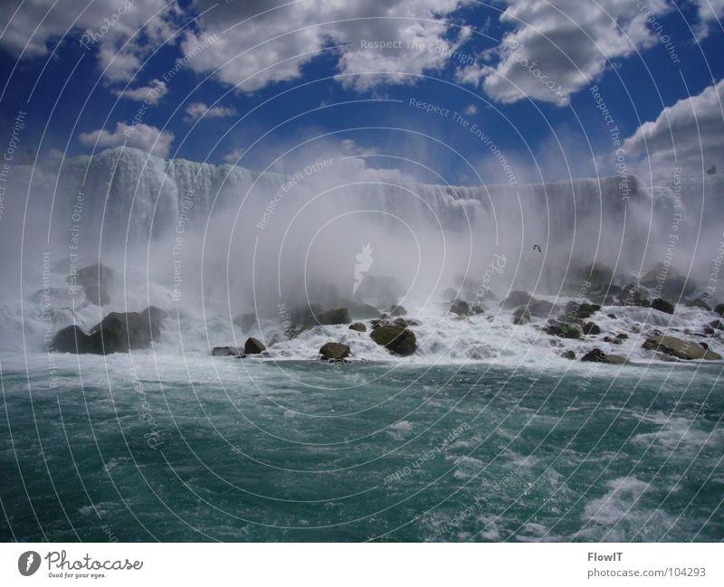 Niagara Falls(US) Wasser Fluss Wasserfall Gischt Niagara Fälle