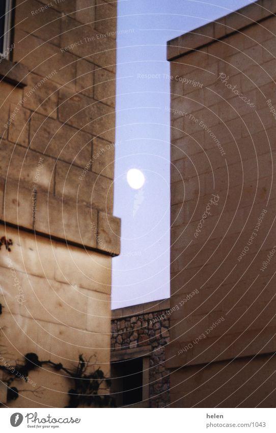 mond Gebäude Malta Gozo Mondaufgang