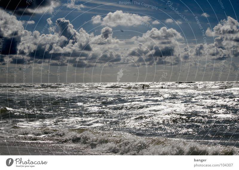 Tag am Meer Himmel Ferien & Urlaub & Reisen Wellen Wind Nordsee Niederlande August Haarlem