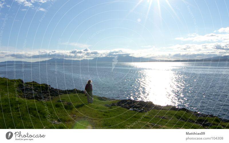 Highlands1 Wasser ruhig Freiheit See Landschaft Schottland England Abendsonne Highlands