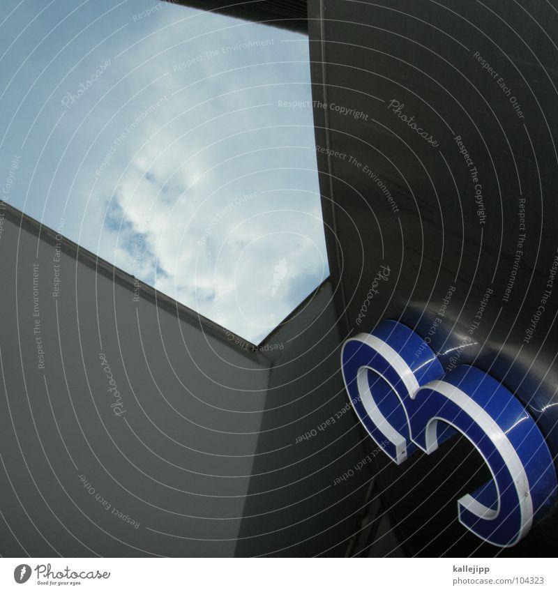 3-D Himmel blau Haus Architektur Schilder & Markierungen Zeichen Ziffern & Zahlen dreidimensional Hausnummer Altar Dreifaltigkeit