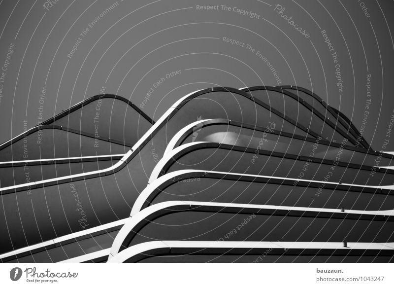 hamburger gebirge. Stadt Hafenstadt Stadtzentrum Haus Hochhaus Bauwerk Gebäude Architektur Mauer Wand Fassade Balkon Beton Linie Streifen bauen entdecken