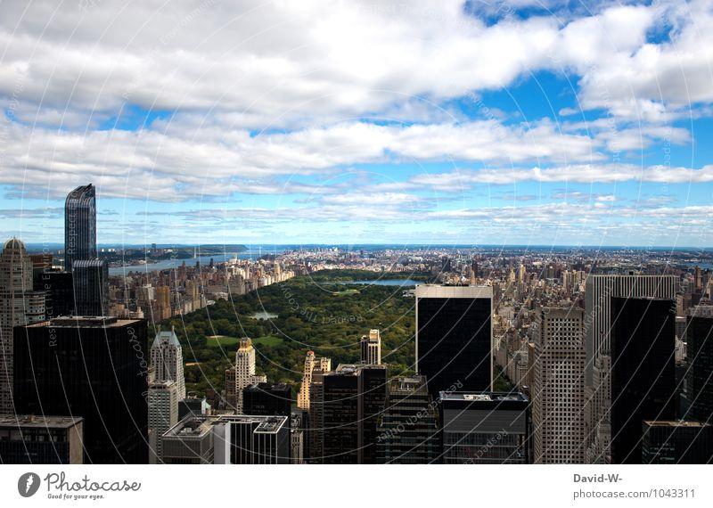 Central Park New York Himmel Stadt Wolken Architektur außergewöhnlich Park Tourismus Häusliches Leben Hochhaus groß USA Umweltschutz Sehenswürdigkeit Reichtum Amerika Karriere