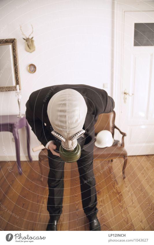 Fein gemacht. XV Mensch Jugendliche Mann Junger Mann 18-30 Jahre Erwachsene maskulin Angst Business retro Schutz gruselig Anzug bizarr Halloween Subkultur