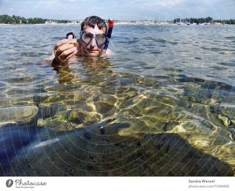 Urlaub Mensch Ferien & Urlaub & Reisen Wasser Sommer Sonne Meer Strand Umwelt Erwachsene Küste Schwimmen & Baden maskulin Freizeit & Hobby Wellen Klima