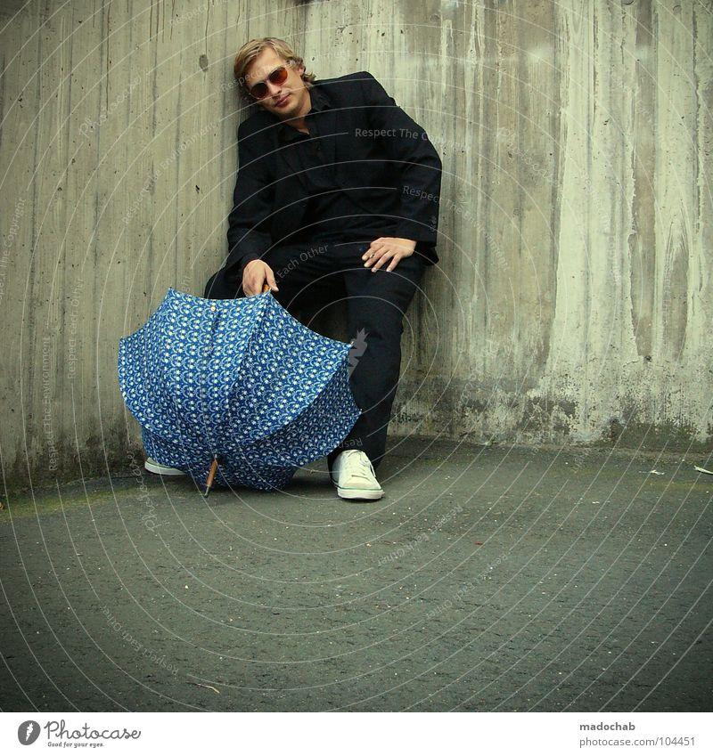 THIS IS MYSPACE [K*LAB*] Mann Anzug Spazierstock Körperhaltung Mensch Sonnenbrille Aktion schick Bremen Karriere Bewegung Geschwindigkeit Tanzen