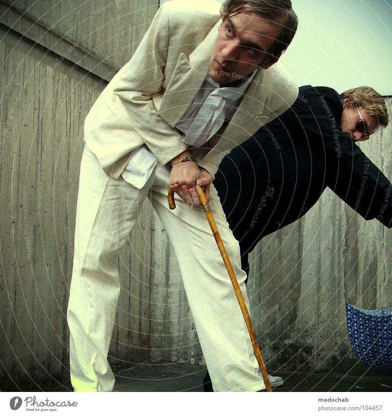 TEAMWORK [K*LAB*] Mann Anzug Spazierstock Körperhaltung Mensch Sonnenbrille Aktion schick Bremen Karriere Bewegung Geschwindigkeit Tanzen Sportveranstaltung