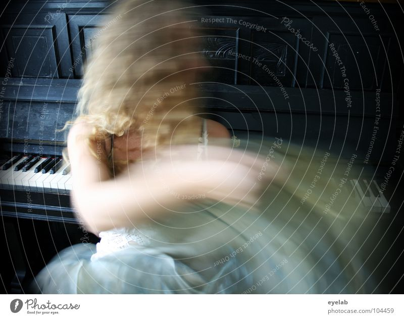 Baby, schüttel dein Haar für mich ! (Vol.2) Frau weiß Freude schwarz Gesicht sprechen Bewegung träumen Musik Tanzen blond sitzen Haut verrückt Flügel Kleid