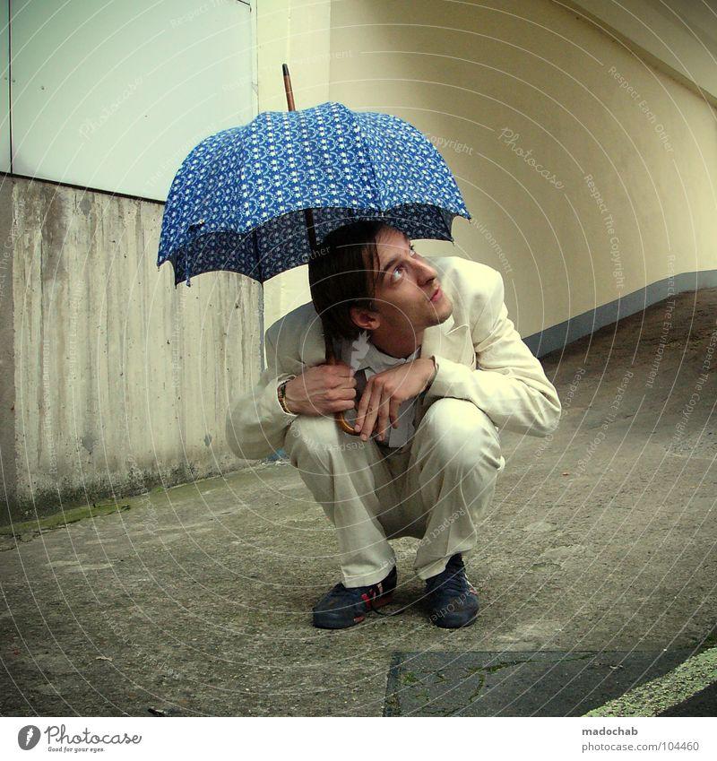 THINK POSITIVE [K*LAB*] Mensch Mann Freude Einsamkeit Bewegung Stil Traurigkeit lustig Regen Arbeit & Erwerbstätigkeit Tanzen Angst sitzen warten maskulin