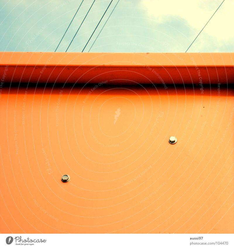 Früher gab's Telefone in der Farbe. Stil orange Kunst retro Kultur Siebziger Jahre altmodisch