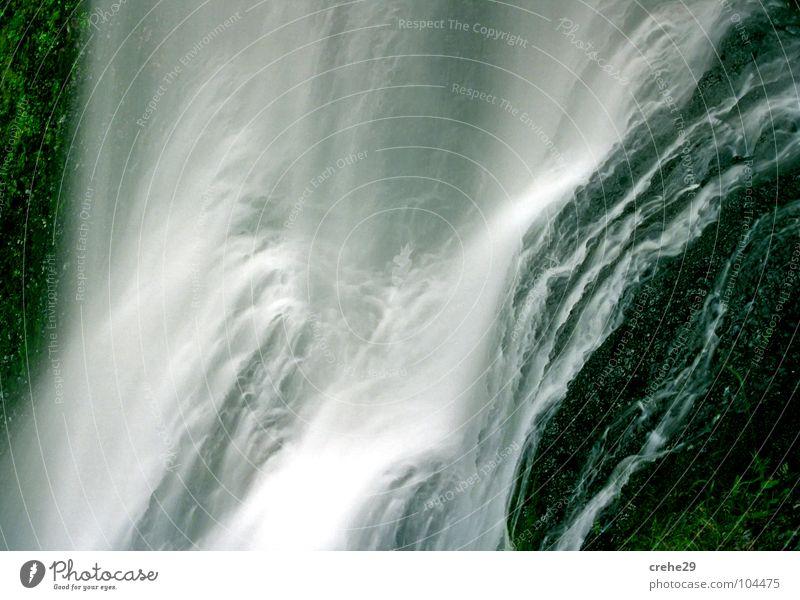 Bergab Natur Wasser schön Sommer Ferien & Urlaub & Reisen Berge u. Gebirge grau Stein nass Wasserfall