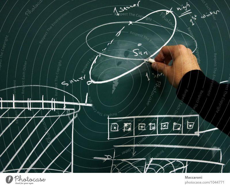 Bisschen Forschen?! grün Sonne Einsamkeit Schule Büro lernen Studium Team Student Sitzung Schüler Physik Tafel Langeweile Arbeitsplatz Kreide