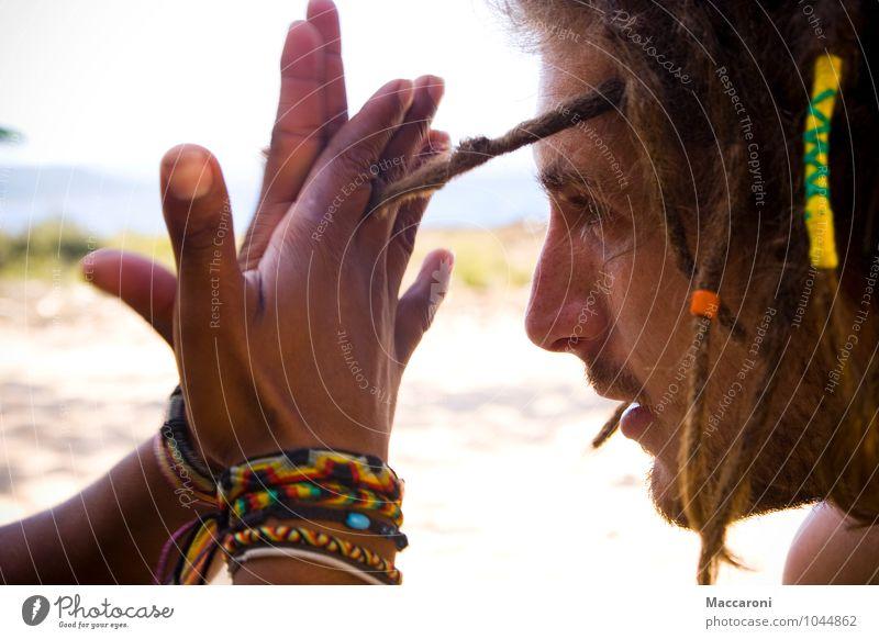 Dreadhead Haare & Frisuren maskulin Junger Mann Jugendliche Kopf Gesicht 1 Mensch 18-30 Jahre Erwachsene Umwelt Natur Landschaft Küste Strand