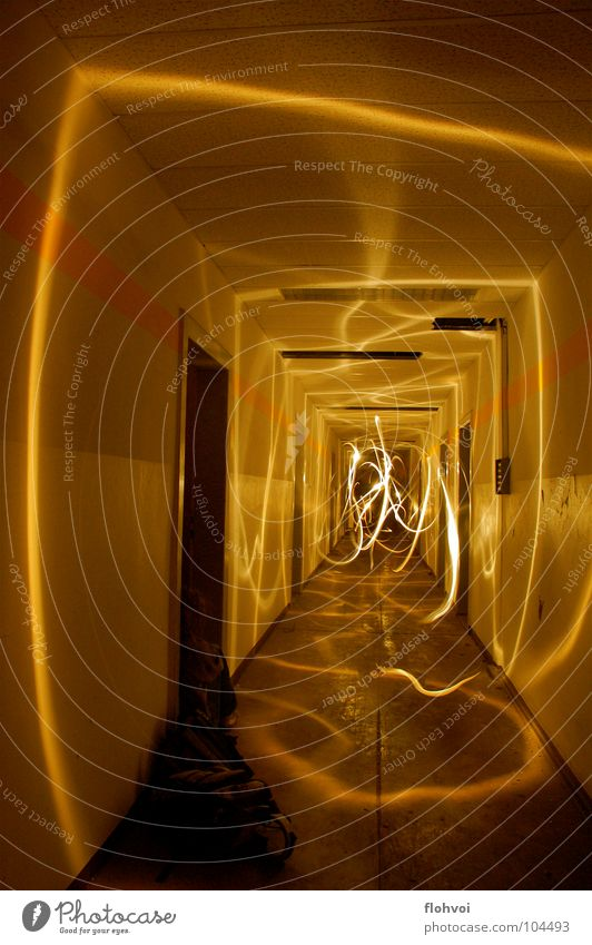 lichtfäden gelb dunkel Tanzen Streifen verfallen Belichtung