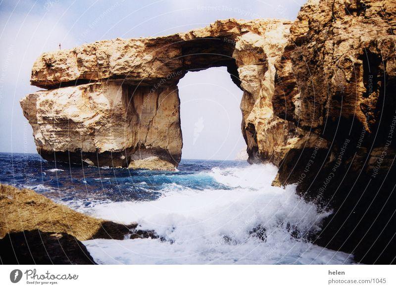 erinnerung Gozo Klippe window azure