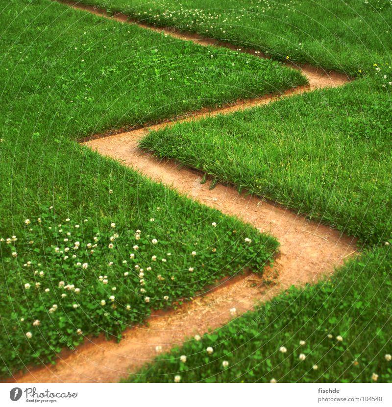 3 Gras Wege & Pfade Sand 2 3 Rasen Gänseblümchen Kies zählen eckig Zickzack Abwechselnd