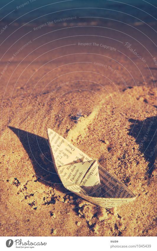 Klar Schiff Ferien & Urlaub & Reisen blau Sommer Meer Freude Strand Reisefotografie Küste Spielen braun Sand Wasserfahrzeug Lifestyle Freizeit & Hobby Kindheit