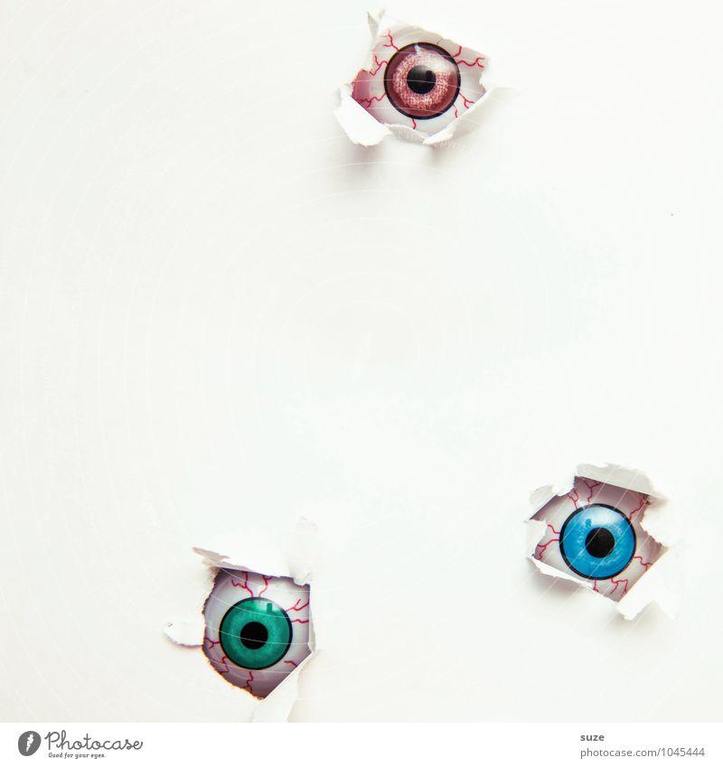 Du bist nicht allein nackt weiß Auge lustig klein hell Freizeit & Hobby Design Dekoration & Verzierung Kreativität beobachten einfach Idee Papier Coolness