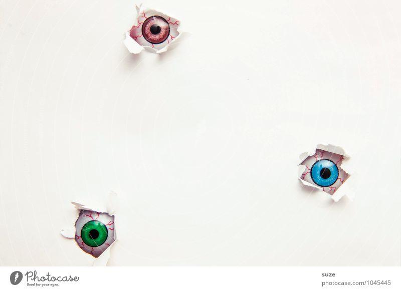 Nur gucken, nicht anfassen! nackt weiß Auge lustig klein hell Freizeit & Hobby Design Dekoration & Verzierung Kreativität beobachten einfach Idee Papier
