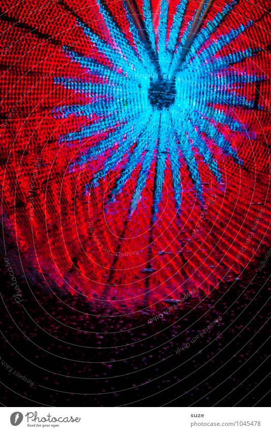 Wasserrad blau Farbe rot Freude schwarz Feste & Feiern Freizeit & Hobby leuchten Kindheit Fröhlichkeit groß Geschwindigkeit Stern (Symbol) rund Höhenangst Jahrmarkt