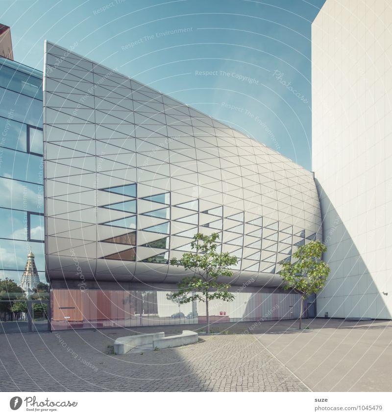 Tummelplatz Himmel Stadt blau Umwelt Architektur Gebäude Fassade Arbeit & Erwerbstätigkeit Design Büro modern Hochhaus ästhetisch Platz Zukunft Studium