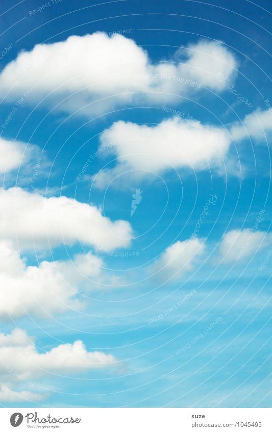 Aus heiterem Himmel Natur blau Himmel (Jenseits) schön Sommer weiß Wolken Umwelt Hintergrundbild Glück Freiheit Wetter Luft frisch authentisch