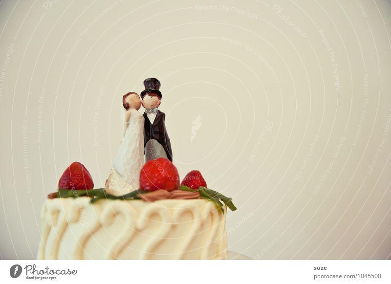 Ehe man sich versieht ... Lebensmittel Kuchen Dessert Süßwaren Ernährung Essen Festessen Glück Feste & Feiern Hochzeit Puppe Zusammensein niedlich Freude Liebe