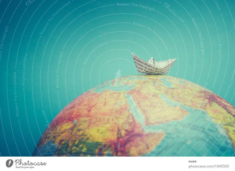 Dem Mutigen gehört die Welt Lifestyle Freizeit & Hobby Spielen Basteln Ferien & Urlaub & Reisen Kreuzfahrt Meer Zeitung Zeitschrift Erde Schifffahrt Fischerboot