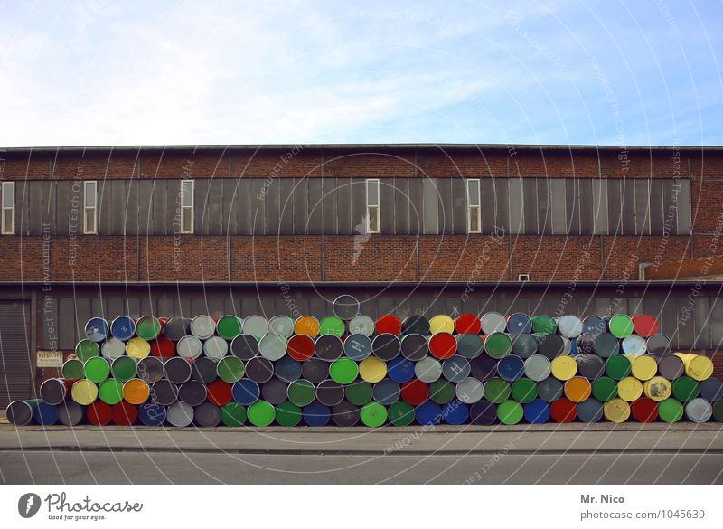 stapellei Himmel blau grün rot schwarz Fenster Umwelt gelb Wand Straße Architektur Gebäude Mauer grau orange Ordnung