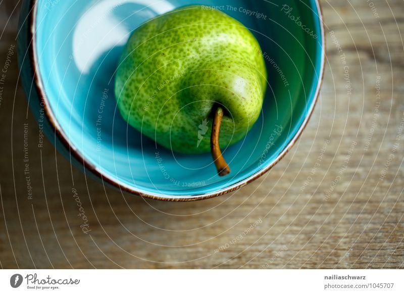Birne blau schön grün Einsamkeit gelb natürlich Holz Gesundheit braun Lebensmittel Frucht frisch Glas Ernährung süß lecker