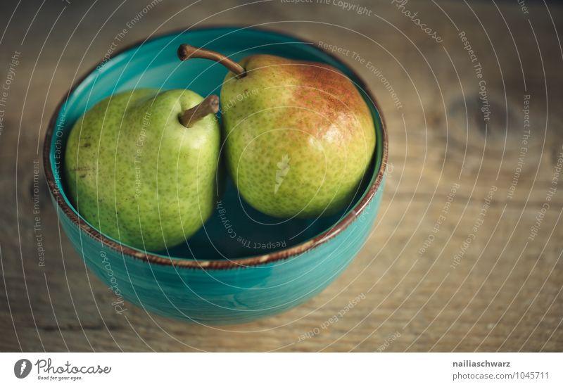 Birnen Lebensmittel Frucht Ernährung Bioprodukte Vegetarische Ernährung Diät Fasten Geschirr Schalen & Schüsseln lecker natürlich saftig schön süß blau braun