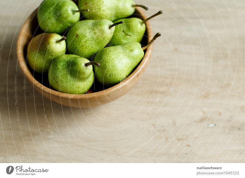 Pears grün Farbe gelb natürlich Holz Gesundheit braun Lebensmittel Frucht Ordnung Kraft frisch authentisch genießen süß Duft