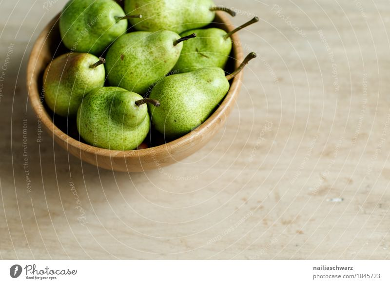 Pears Lebensmittel Frucht Birne Bioprodukte Vegetarische Ernährung Diät Fasten Schalen & Schüsseln Holz Duft authentisch frisch Gesundheit natürlich saftig
