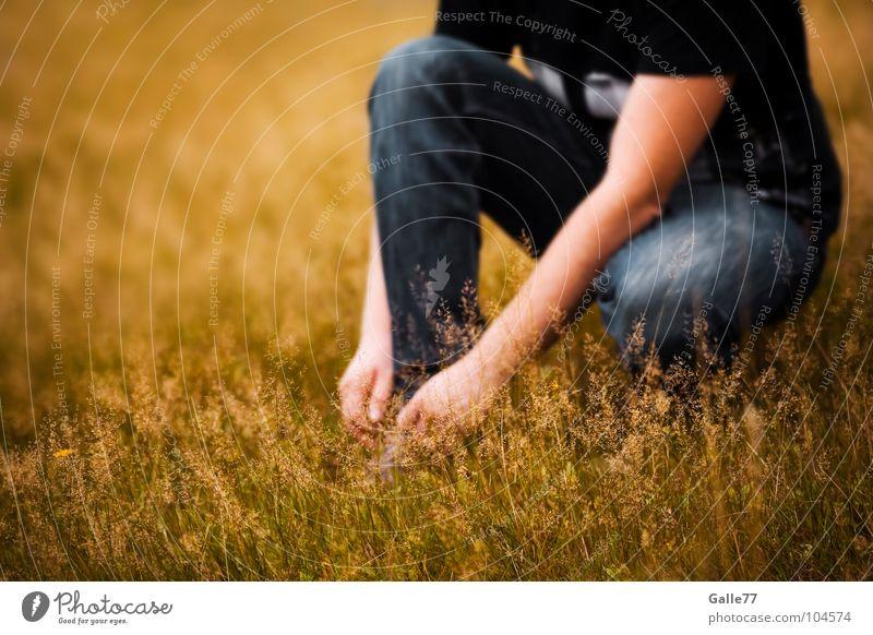 gleich gehts weiter ... Sommer Wiese Wärme Schuhe Pause Physik atmen hocken angenehm binden sommerlich