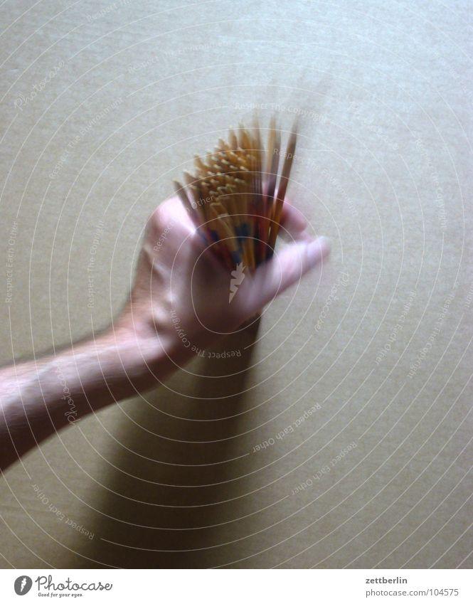 Mikado Hand Spielen Holz Bewegung Freizeit & Hobby Beginn festhalten berühren frieren werfen Stab betrügen Kinderzimmer Geschicklichkeit Essstäbchen Mikado
