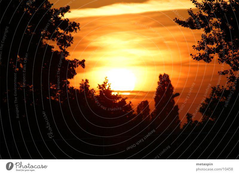 Sonnenuntergang Natur Himmel Wolken
