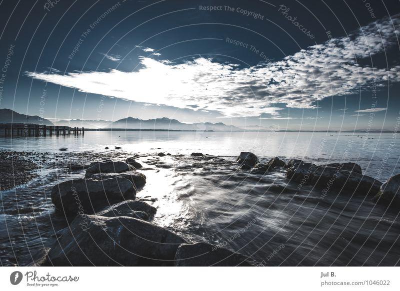 Bayerisches Meer Umwelt Natur Landschaft Himmel Wolken Sonne Wetter Schönes Wetter Stimmung Tugend Fröhlichkeit Wahrheit authentisch Farbfoto Außenaufnahme Tag