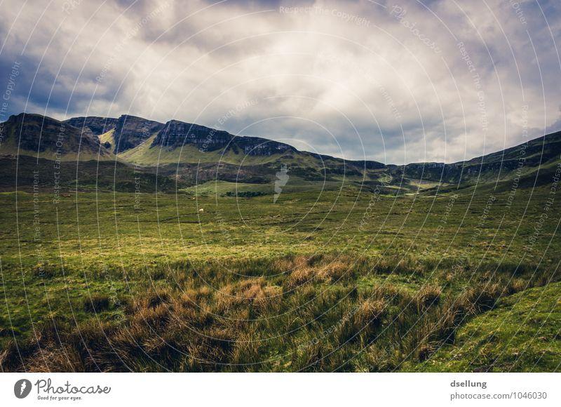 weite II. Himmel Natur grün Sommer Einsamkeit Landschaft Wolken Ferne Umwelt Berge u. Gebirge Wiese grau Freiheit braun Felsen Horizont