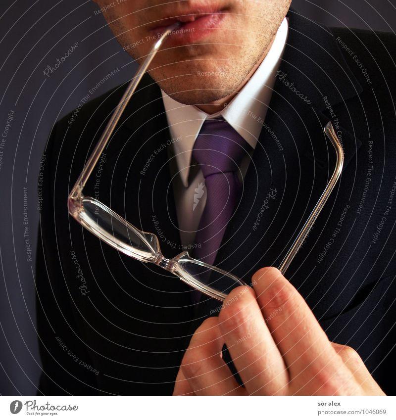 Herr Meyer Mensch Mann Hand Erwachsene sprechen Arbeit & Erwerbstätigkeit maskulin Business Büro Erfolg Mund Brille Beruf Geldinstitut Hemd Sitzung