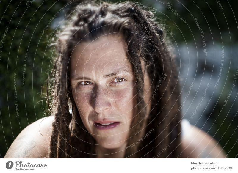 Kerstin Lifestyle harmonisch Wohlgefühl Zufriedenheit Sinnesorgane Erholung ruhig Mensch feminin Junge Frau Jugendliche Erwachsene Kopf 1 30-45 Jahre Tattoo