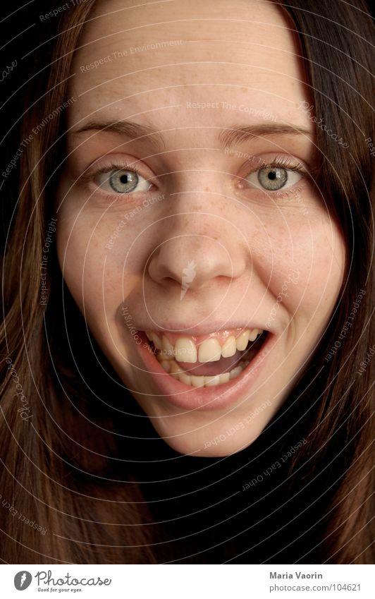 """""""Hähä... ick gloob ick hab zuviel jetrunken..."""" Frau Mädchen Freude Gesicht lachen lustig Alkoholisiert grinsen dumm Selbstportrait Unsinn"""