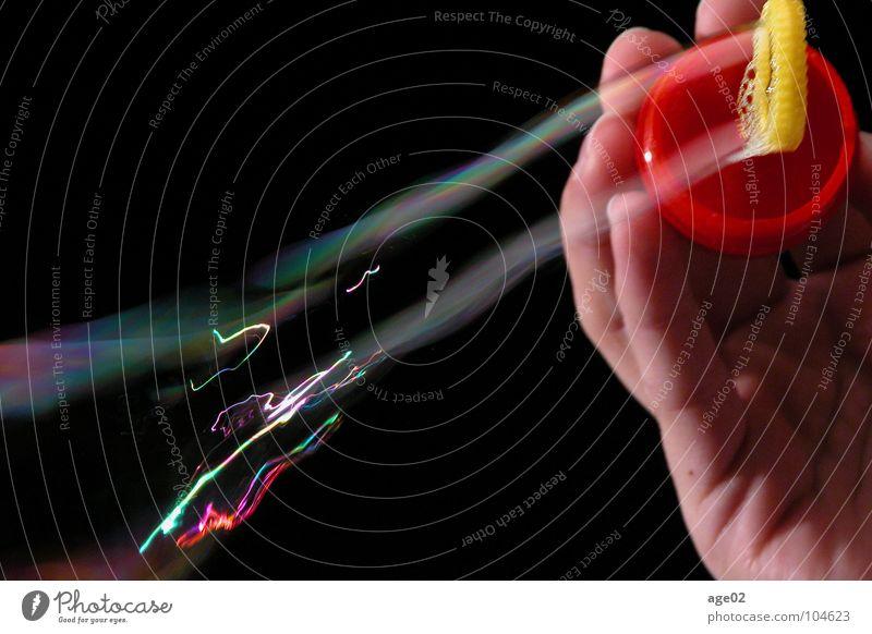 Blow schön ruhig Bewegung Vergänglichkeit Dynamik Seifenblase schillernd