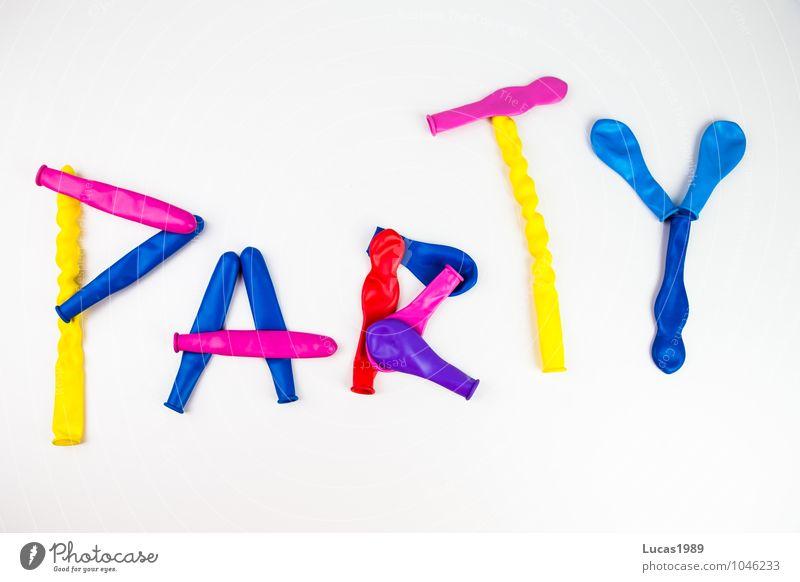 Party Luftballon Ballone Feste & Feiern Geburtstag Gummi Kondom Sex Tanzen frech frei blau mehrfarbig gelb violett rosa rot weiß Freude Zufriedenheit Coolness