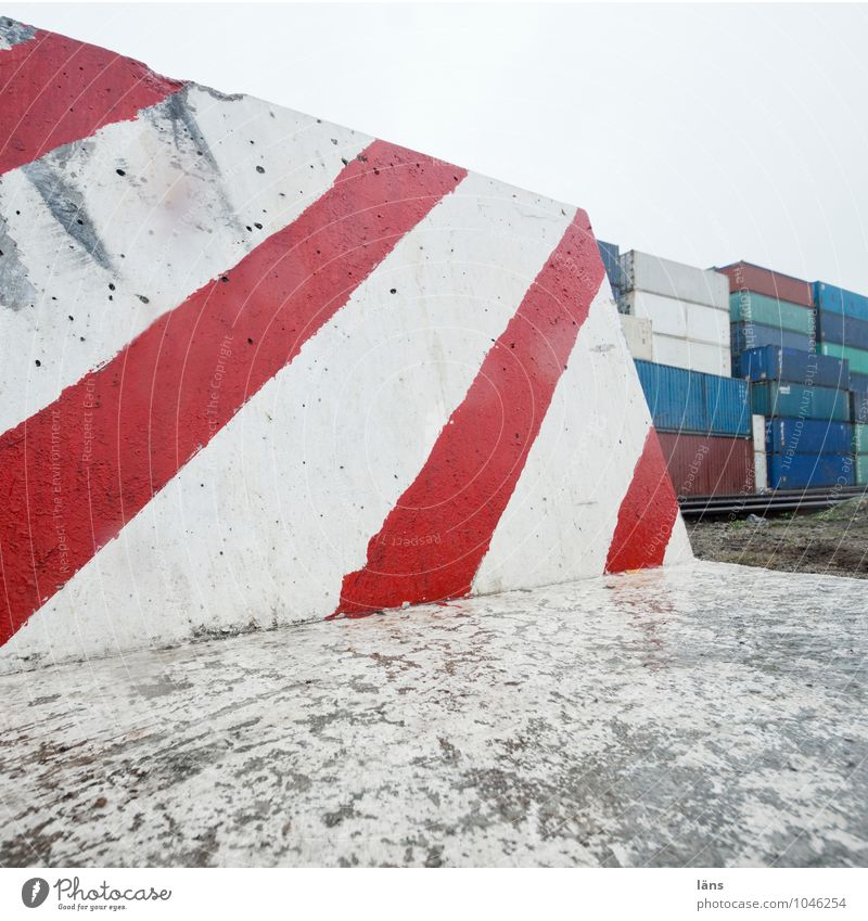 Hafenkante Wege & Pfade Wachstum gefährlich Beton Hinweisschild bedrohlich Wandel & Veränderung Hamburg Güterverkehr & Logistik Stahl Dienstleistungsgewerbe