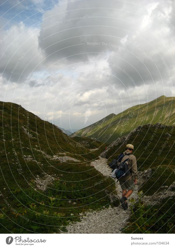 Wanderweg Berge u. Gebirge Wege & Pfade Stein Felsen wandern Alpen Bergsteiger