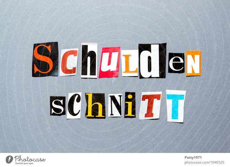 Schuldenschnitt Printmedien Zeitung Zeitschrift Zeichen Schriftzeichen Typographie Gesellschaft (Soziologie) Politik & Staat Staatshaushalt Collage anonym