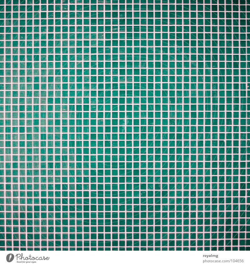 kleinkariert und linientreu Mosaik Fassade Bad Wand Detailaufnahme Linie Fliesen u. Kacheln blau Strukturen & Formen