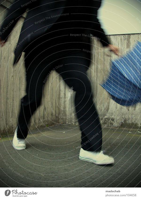 END | STARRING: MADOCHAB [K*LAB*] Mann Anzug Spazierstock Körperhaltung Mensch Lifestyle Sonnenbrille Aktion schick Bremen Karriere Bewegung Unschärfe